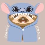 ผ้าห่มคลุมหัว ลาย Stitch(แบบผ้าสำลี)