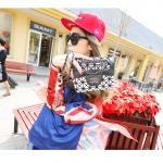 (Pre order)กระเป๋าแบรน Maomao Bag หนัง PU สีเงิน Silver