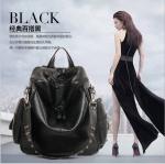[ พร้อมส่ง Hi-End ] - กระเป๋าเป้แฟชั่น นำเข้าสไตล์เกาหลี สีดำคลาสสิค สุดเท่ ดีไซน์สวยเก๋ไม่ซ้ำใคร สวยสุดมั่น เหมาะกับสาว ๆ ที่ชอบกระเป๋าเป้และสะพายได้ งานเนี้ยบสวยมากค่ะ