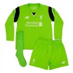 เสื้อประตูลิเวอร์พูล 2016-2017 ทีมเหย้าสำหรับเด็กแขนยาวของแท้ Liverpool FC Home Infant Goalkeeper Kit 16/17