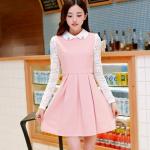 ชุดเดรสวินเทจสีชมพูหวานน่ารักๆ