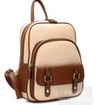 [ พร้อมส่ง ] - กระเป๋าแฟชั่น beibaobao สีขาว-ครีม ทรงเก๋ ๆ สะพายหลัง มีช่องใส่เยอะ น่ารักมากค่ะ