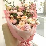 ช่อดอกไม้สีหวานสดใส สไตล์ญี่ปุ่น เหมาะสำหรับทุกโอกาส