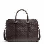 กระเป๋าผู้ชาย COACH HERITAGE WEB LEATHER EMBROIDERED C SLIM BRIEF F71247