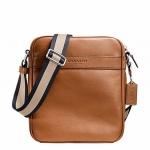 พร้อมส่ง กระเป๋าผู้ชาย COACH รุ่น FLIGHT BAG IN SMOOTH LEATHERHT BAG F71723 : SADDLE