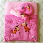 ที่นอนเด็กอ่อนปิคนิค เบาะนอนเก็บสะดวก สีชมพูลายยีราฟ
