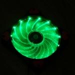 พัดลม12cm led15ดวง สีเขียว