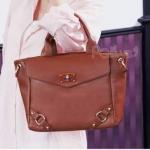 กระเป๋าแฟชั่น PG สีน้ำตาล สวยหวานสไตล์ Girly ใบกลาง ใช้งานง่าย โดดเด่น