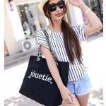 [ พร้อมส่ง ] - กระเป๋าแฟชั่น นำเข้าสไตล์เกาหลี สีดำ สไตล์แบรนด์ดังจากญี่ปุ่น ทรง Shopping ใบใหญ่ เหมาะกับทุกโอกาสการใช้งานค่ะ