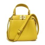 [ พร้อมส่ง ] - กระเป๋าแฟชั่น กระเป๋าถือ&สะพาย สีเหลือง ไซส์มินิ สุดฮิตหนังสวย หัวบิดหน้าหลัง 2 ช่องใส่ของ มีสายสะพายยาวปรับระดับได้ค่ะ