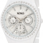 นาฬิกา XOXO Women's XO114 Rhinestone Accent White Enamel Bracelet Watch