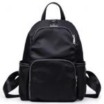 [ พร้อมส่ง HI-End ] - กระเป๋าเป้แฟชั่น สไตล์เกาหลี สีดำคลาสสิค ใบกลางๆ ทรงสวยสุดเท่ ดีไซน์สวยเก๋ งานผ้าร่มไนลอนอย่างดี น้ำหนักเบา น่าใช้มากๆค่ะ