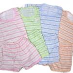 ชุดเด็กเล็กผ้ายืด คละสี