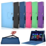 Leather Cover Case with elastic For Microsoft Surface PRO 4 12.3 ""