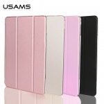 USAMS Leather Slim Auto Sleep Case Transparent Smart Cover Stand F iPad Pro 12.9 รุ่นแรก