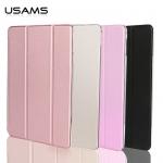 USAMS Leather Slim Auto Sleep Case Transparent Smart Cover Stand F iPad Pro 12.9 รุ่นแรก