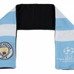 ผ้าพันคอที่ระลึกแมนเชสเตอร์ ซิตี้ของแท้ Manchester City UEFA Fleece Bar Scarf