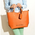 [ พร้อมส่ง ] - กระเป๋าแฟชั่น สไตล์เกาหลี สีน้ำตาลอมส้ม ดีไซน์แบรนด์ดัง หนัง Prada งานเนี๊ยบสวยมาก ใบใหญ่ใส่ของได้เยอะ เหมาะกับทุกโอกาส