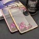 Diamond Flower Soft TPU Silicone Case Clear Cover For Apple iPad Mini 4