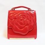 ลดราคา***พร้อมส่ง - กระเป๋าแฟชั่น สีแดงสุดจิ๊ด ดีไซน์แบรนด์สุดฮิต Aristotle Rose หนังแก้ว ปักแต่งรูปดอกกุหลาบสุดเริศ ใบเล็กถือออกงานสวยโดดเด่นมากค่ะ