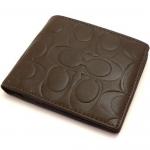 กระเป๋าสตางค์ผู้ชาย COACH SIGNATURE EMBOSSED COIN WALLET F74531