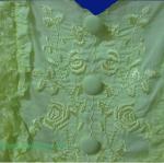 ขายแล้วค่ะ T6:2nd hand top เสื้อสายเดี่ยวสีเหลือง ปักลายดอกไม้&#x2764