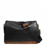กระเป๋าผู้ชายสะพาย COACH BLEECKER COURIER BAG IN COLORBLOCK LEATHER F71424
