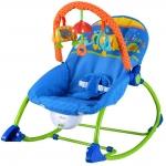 เปลโยก สั้นได้ มีเสียงเพลง สีฟ้า พร้อมโมบาย Jolly Baby รุ่น Infant-to-Toddler Rocker
