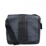 กระเป๋าผู้ชาย COACH HERITAGE SIGNATURE MAP BAG F71102 : NAVY