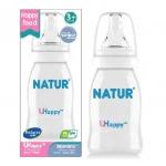 ขวดนม Natur UHappy ขนาด 4 oz.ทรงมาตราฐาน