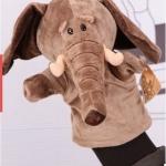 ตุ๊กตาหุ่นมือช้าง ตัวใหญ่ ขนหนานุ่ม ขยับปากได้