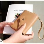 [ พร้อมส่ง ] - กระเป๋าสตางค์แฟชั่น สไตล์เกาหลี สีน้ำตาล ใบกลาง แต่งมงกุฎ งานสวยน่ารัก น่าใช้มากๆค่ะ