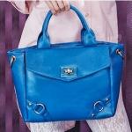 กระเป๋าแฟชั่น PG สีฟ้า สวยหวานสไตล์ Girly ใบกลาง ใช้งานง่าย โดดเด่น
