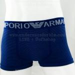กางเกงในชาย Emporio Amani Boxer Briefs : สีน้ำเงิน ลายขีดขวาง (FREE SIZE)