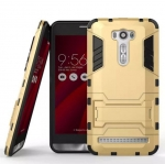 Rugged Hybrid Dual Layer Armor Kickstand Case Cover For Asus Zenfone 2 Laser ZE601KL 6 นิ้ว