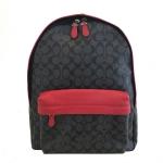 กระเป๋าเป้ผู้ชาย COACH รุ่น CAMPUS BACKPACK IN SIGNATURE BLACK/RED F71973