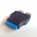 adapter แปลง 20pin to USB 3.0 Female 2พอร์ต