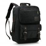 [ พร้อมส่ง ] - กระเป๋าเป้ ผู้ชาย-หญิง ดีไซน์เท่ ๆ สีดำ ใบใหญ่จุใจ ช่องใส่ของเยอะ ใส่ Notebook I-Pad ได้ เหมาะสำหรับพกพา