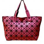สินค้าขายดี***พร้อมส่ง - กระเป๋าแฟชั่น สีแดงเข้มมันเงา ใบใหญ่ สุดฮิต สไตล์แบรนด์ดัง โดดเด่นไปกับดีไซน์สวย ๆ ที่สาวๆ ไม่ควรพลาด