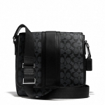 กระเป๋าผู้ชาย COACH HERITAGE SIGNATURE MAP BAG F71102 : BLACK