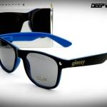 แว่นกันแดด Glassy Sunhaters รุ่น : Leonard Halfy Blue ( Spring hinges ขาสปริง)