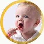 แปรงสีฟันเด็ก แปรงนวดเหงือก