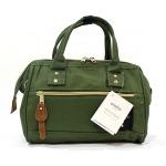 [ พร้อมส่ง ] - กระเป๋าแฟชั่น กระเป๋าถือ&สะพาย สีเขียวเข้มสุดเท่ ไซส์กลางๆ ดีไซน์แบรนด์ anello สุดฮิต มีสายสะพายยาวปรับระดับได้ค่ะ