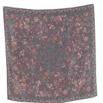 SC9:Vintage sacrf ผ้าคลุมไหล่ ผ้าพันคอ โทนสีเทา ลายดอกไม้