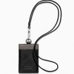 สายคล้องคอ COACH สีดำ รุ่น HERITAGE WEB LEATHER LANYARD F61313