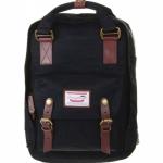 [ พร้อมส่ง ] - กระเป๋าเป้ Doughnut Macaroon Hong Kong canvas backpack #BLACK