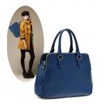 [ Pre-Order Hi-End ] - กระเป๋าแฟชั่น นำเข้าสไตล์ยุโรป สีน้ำเงิน ดีไซน์แบรนด์ดัง ทรงตั้งอยู่ทรงได้ แบบสวยเรียบหรู เหมาะสำหรับทุกโอกาสการใช้งาน สาวๆ Workking Woman ห้ามพลาด