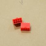 8 Pin VGA แบบลงปริ๊น สีแดง