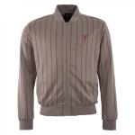 เสื้อลิเวอร์พูลย้อนยุคของแท้ Liverpool FC Mens Grey Stripe Tricot Jacket