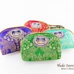 ของที่ระลึกไทย กระเป๋าผ้าลายไทย ขอบทอง (ขนาด: ขอบทอง S) ลายช้างป่า หนึ่งโหลคละสี จำหน่ายยกโหล สินค้าพร้อมส่ง